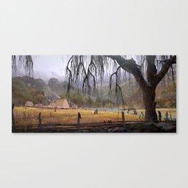 RIVER VILLAGE Canvas Print