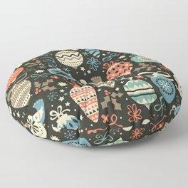 Festive Folk Charms Floor Pillow