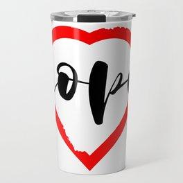 Nope Anti Love Valentine's Day Travel Mug
