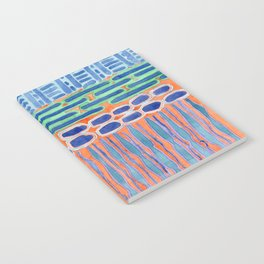 Blue Shapes Pattern Notebook