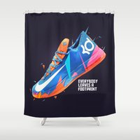 nike Shower Curtains featuring NIKE ZOOM by Ian Quijano