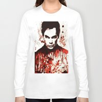 dexter Long Sleeve T-shirts featuring Dexter by Alycia Plank