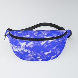 A bright cluster of blue bodies on a light background. Fanny Pack
