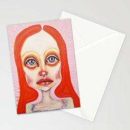 pink orange Stationery Cards