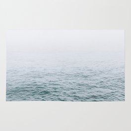 Foggy ocean blues Rug