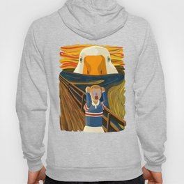 The Honk - Goose Game Famous The Scream Canvas Painting Parody Meme Thematic Gift Hoody