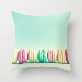 Macarons, macaroons row, pop art Throw Pillow