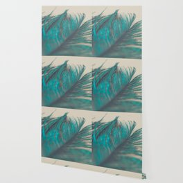 Turquoise Feather Abstract Wallpaper