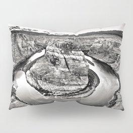 Horseshoe Bend Arizona Black and White Pillow Sham