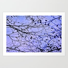 boughs ultraviolet Art Print