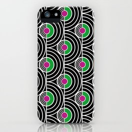 Dancing on old LPs iPhone Case