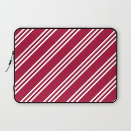 Crimson and White Large Small Small Stripes Laptop Sleeve