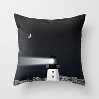 lighthouse Throw Pillows featuring Lighthouse by Florent Bodart / Speakerine