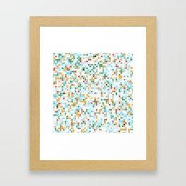 handmade coloured squares Framed Art Print