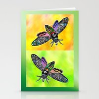 goth Stationery Cards featuring Goth Moth by Jan4insight