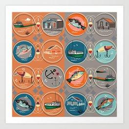 NEW FISHTOWN Art Print