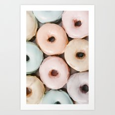 Pastel Donuts Art Print