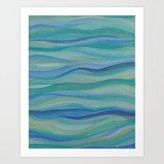 Surf Abstract Waves Art Print