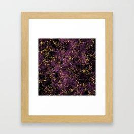 GOLD MAGENTA MARBLE Framed Art Print