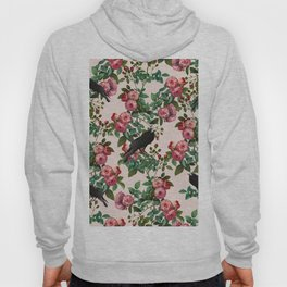 Roses With Crows Pattern Hoody