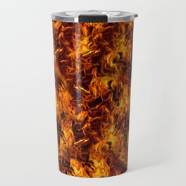 Fire and Flames Pattern Travel Mug
