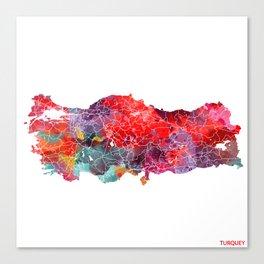 Turquey map square Canvas Print