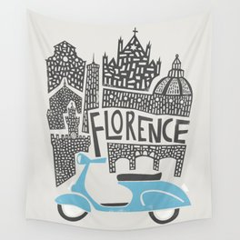 Florence Cityscape Wall Tapestry
