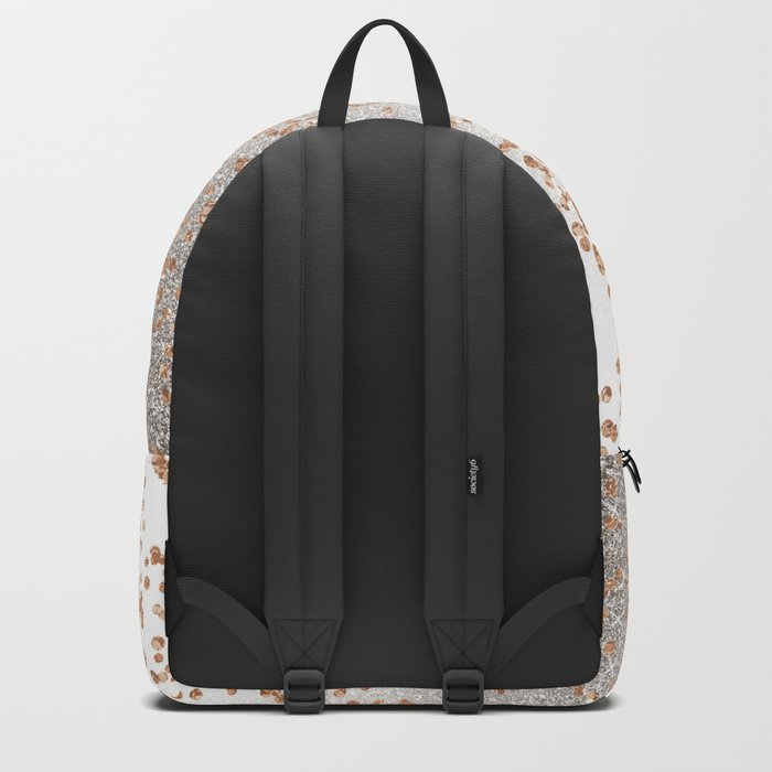 Glitter sparkle mix - rose gold & silver Backpack