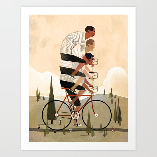 Co-Op Bike Art Print