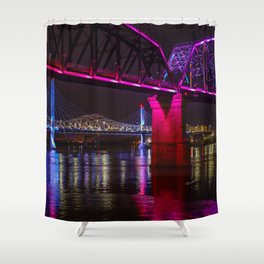 Three Bridges Over the Ohio Shower Curtain