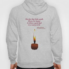 Shakespeare Candle Flame Hoody