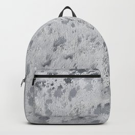 Silver Hide Print Metallic Backpack