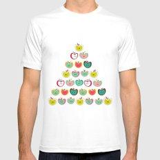Cute Apples  White MEDIUM Mens Fitted Tee