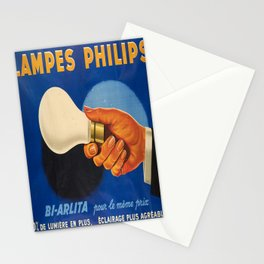 classic poster lampes philips electricity Stationery Cards