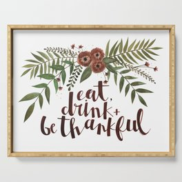 Eat, Drink + Be Thankful - Foliage Serving Tray