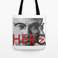 heroes Tote Bags featuring HEROES by BALANCE 1947
