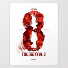 The Hateful 8 Art Print