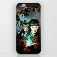 merlin iPhone & iPod Skins featuring Merlin by Miriam Soriano