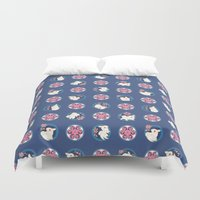 bunny Duvet Covers featuring Bunny by Anya McNaughton
