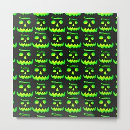 Halloween Green Pumpkin Metal Print