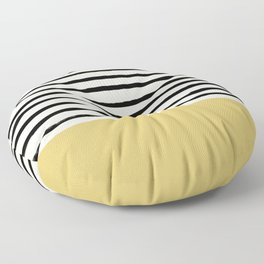 Daffodil Yellow x Stripes Floor Pillow
