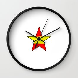 Flag of spain 12-spain,espana, spanish,plus ultra,espanol,Castellano,Madrid,Barcelona Wall Clock