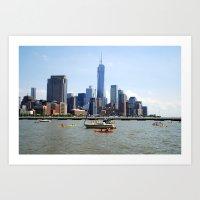 Kayaking Around Art Print
