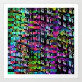 Tree Apartments Art Print