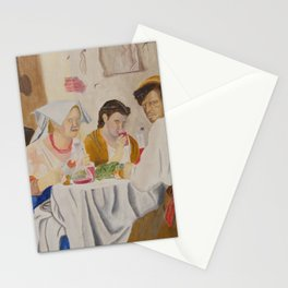 People eating Stationery Cards
