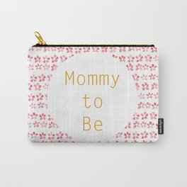 Mommy to be - watercolour pattern Carry-All Pouch