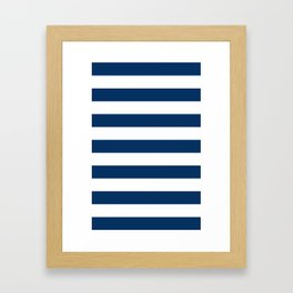 Nautical Stripes Framed Art Print