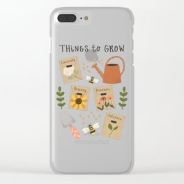 Things to Grow - Garden Seeds Clear iPhone Case