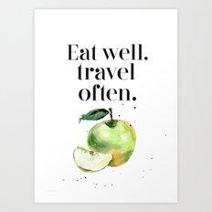 Green apple - Eat well Art Print
