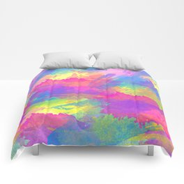 Water Colour Brush Pattern Comforters